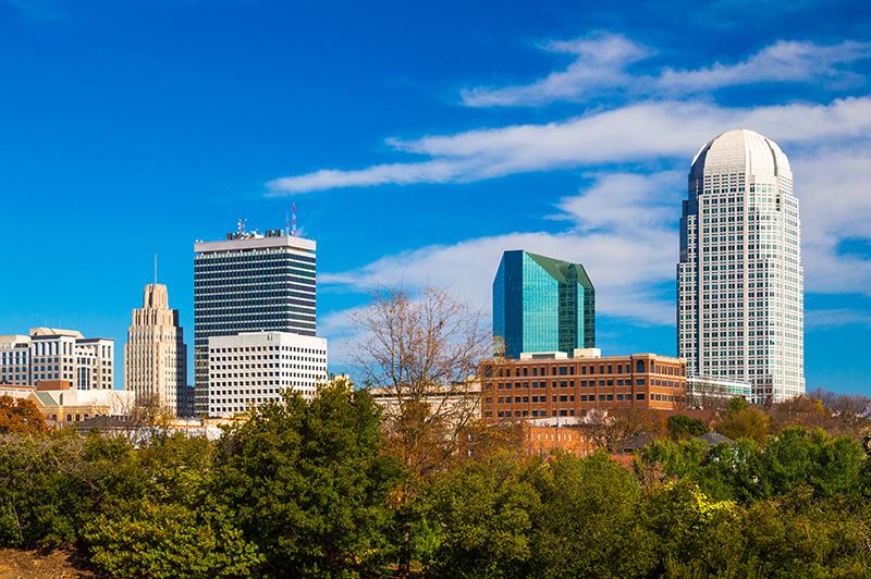 Downtown Winston-Salem skyline