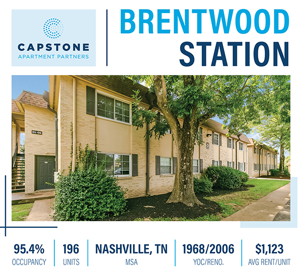 New Offering: Rare Brentwood, TN Asset with Proven Value-Add Program & Resort-Style Amenities
