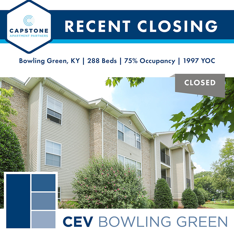 Capstone Closes $4,025,000 Sale of 288-Bed Student Housing Asset near Western Kentucky University
