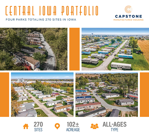 New Offering: 270-Site Central Iowa MHC Portfolio | Scaled Entry with Sizeable Rental Upside