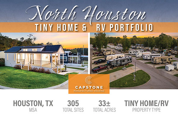 New Offering: 305-Site Tiny Home & RV Portfolio in North Houston