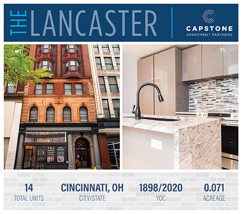 New Offering: Boutique Urban Infill Redevelopment with Condo Grade Finishes | 14 Units in Downtown Cincinnati, OH