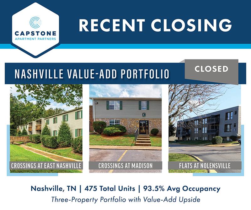 Nashville Value-Add Portfolio closing graphic