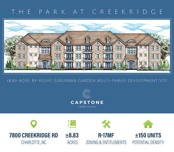 New Offering: Charlotte Zoned and Entitled Multi-Family Development Site