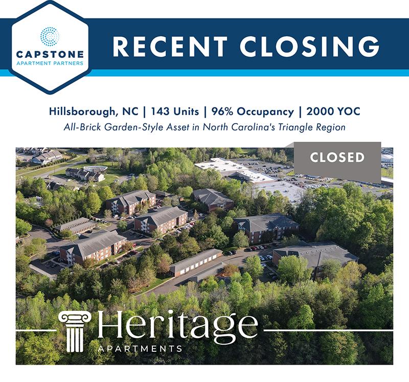Heritage Apartments closing image