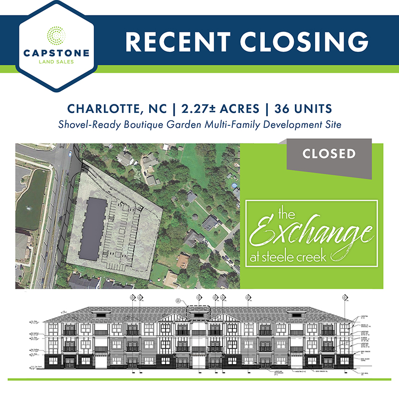 The Exchange at Steele Creek closing