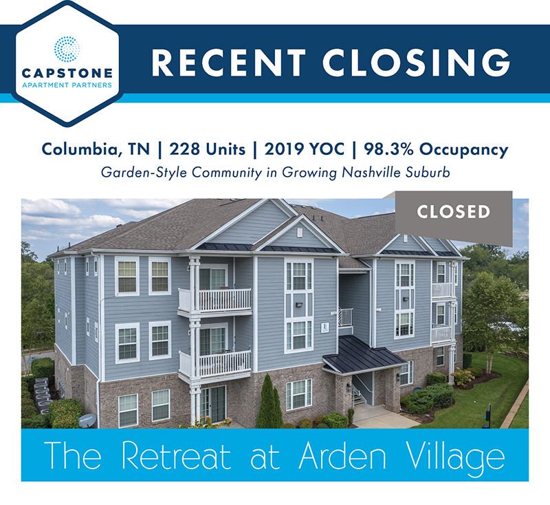 The Retreat at Arden Village closing graphic