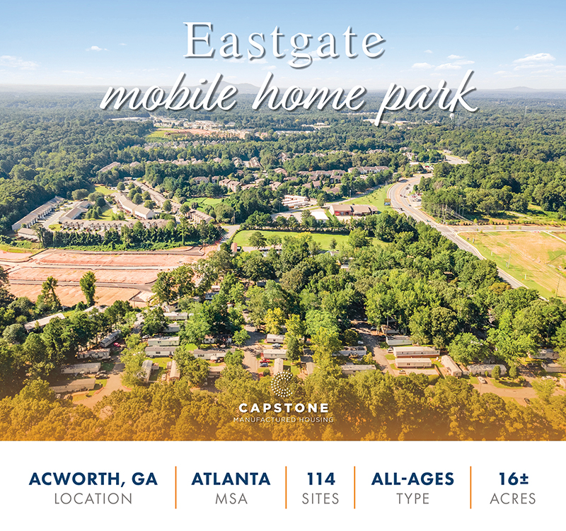 New Offering: 114-Site MH Community in Atlanta MSA   99% Occupancy with Significant Lot Rent Growth Potential