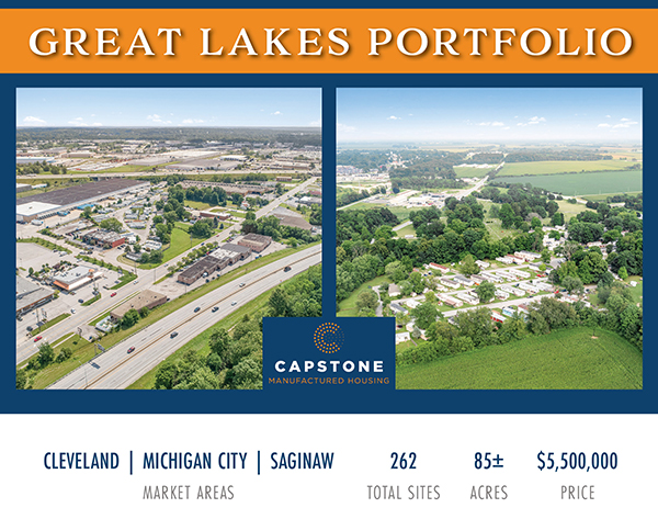 New Offering: 262-Site MH Portfolio in Ohio, Indiana, and Michigan   Significant Value-Add Opportunity